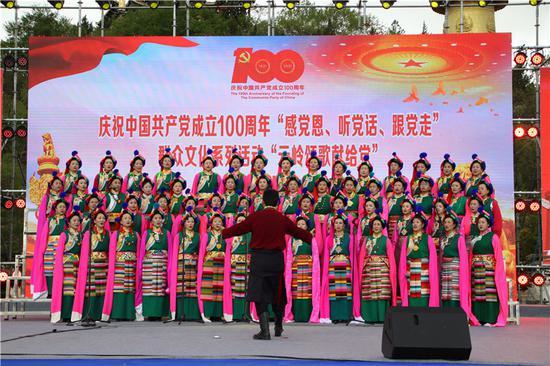 中国旅游日 香格里拉歌舞迎宾客