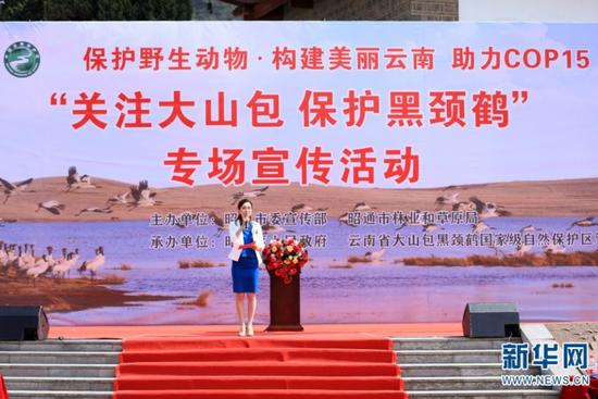 宣传活动现场(3月20日摄)。新华网 赵普凡 摄