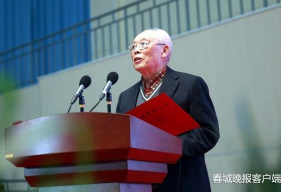 80岁老教师代表发言