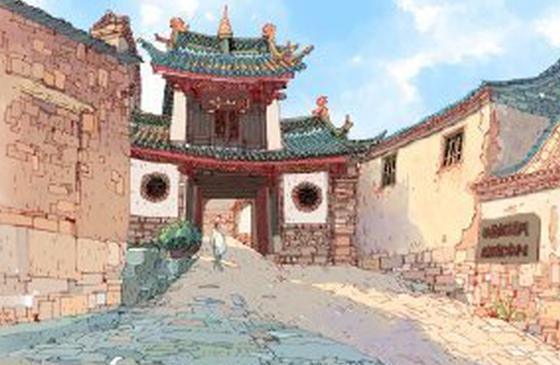 高清图丨别有一番韵味的手绘版建水临安古城