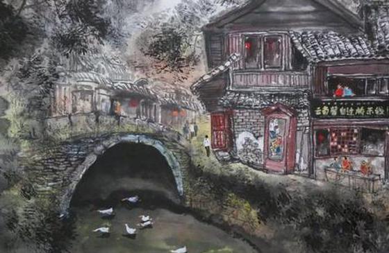 献礼新中国成立70周年 画家王亚臣100幅水墨丽江送祖国
