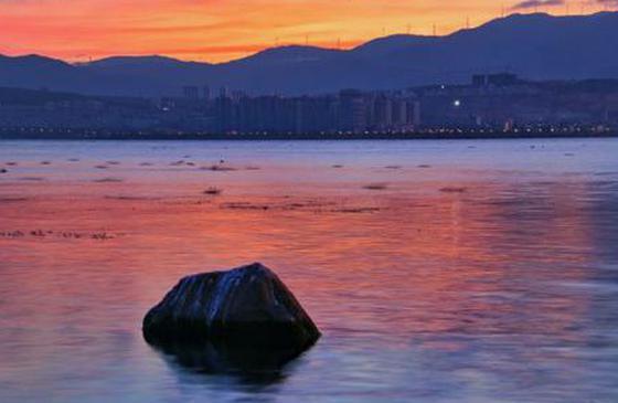 高清图丨洱海晨曦 远离世俗的初冬晨光