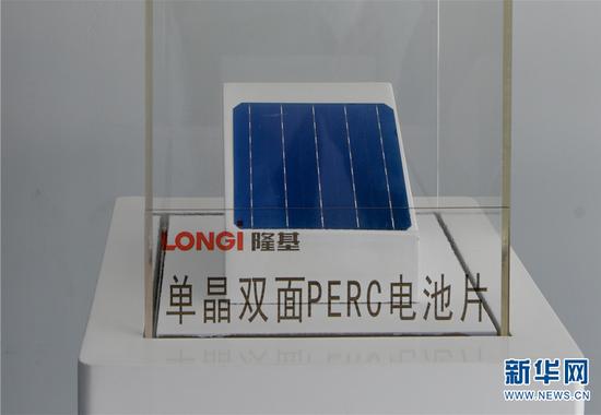 丽江隆基生产的单晶双面PERC电池片