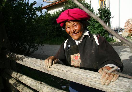 零感染的香格里拉,治愈系的笑容。