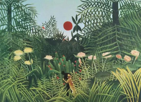 亨利·卢梭 原始森林 46.5X64.5cm 石版画