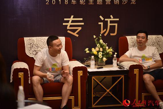 车轮创始人CEO吴峰(左)、媒体中心及大市场部总经理赵凯(右)