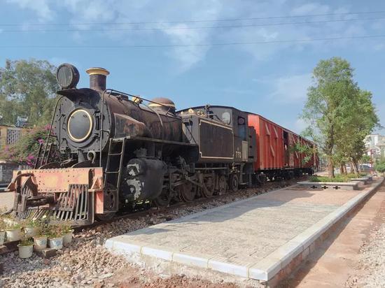 蒸汽机车展示