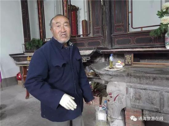 苏轼后裔、今年78岁管理苏氏祠堂的苏全斌老人