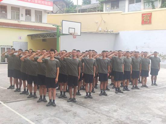 镇沅70名预定新兵接受役前教育训练