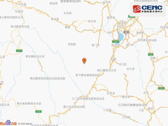 云南楚雄州双柏县发生4.6级地震 六月该县已发4级以上地震3次