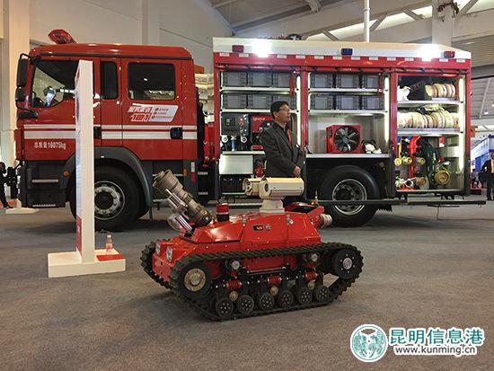 消防装备展示。