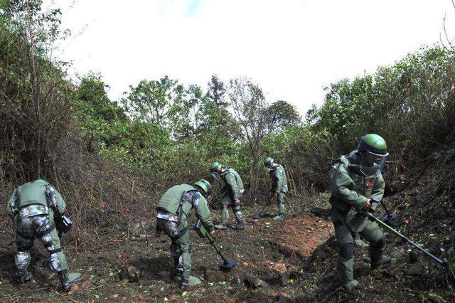视频丨中越边境扫雷:20米内扫出几十枚