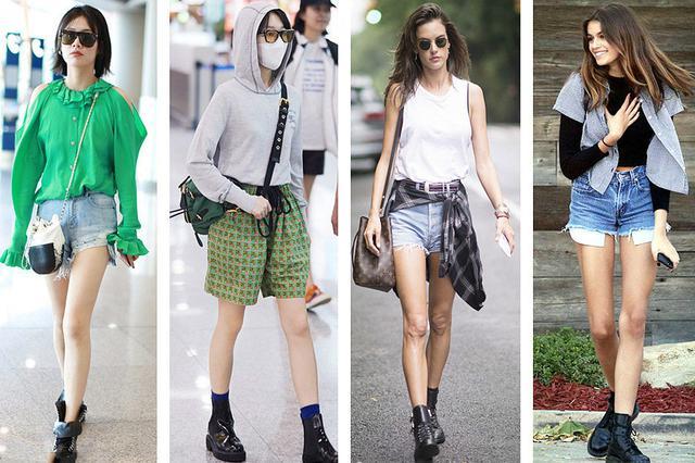 马丁靴搭配短裤简直酷到没朋友