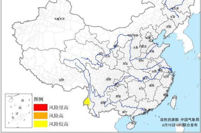 预警:云南西部等地地质灾害气象风险较高