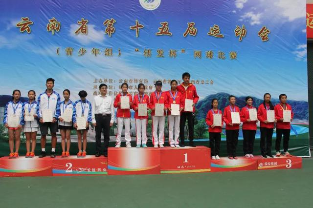 临沧代表队在云南省运会网球比赛中喜获佳绩
