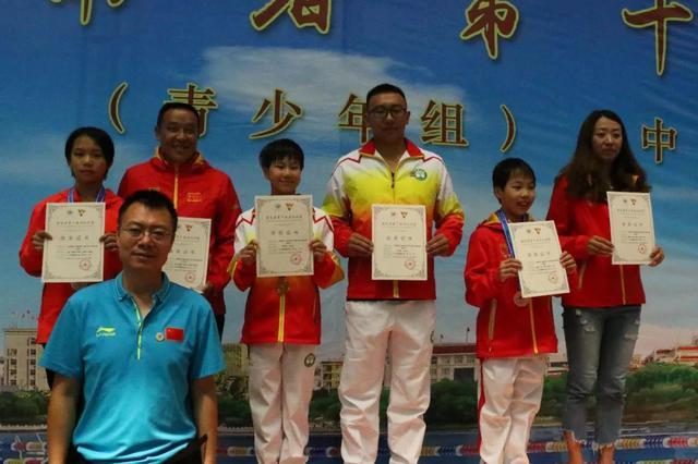 云南省运会游泳项目临沧代表团勇夺2金1铜