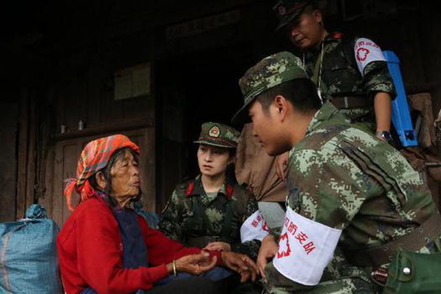 组图丨云南墨江:抗震救灾现场那抹美丽的橄榄绿