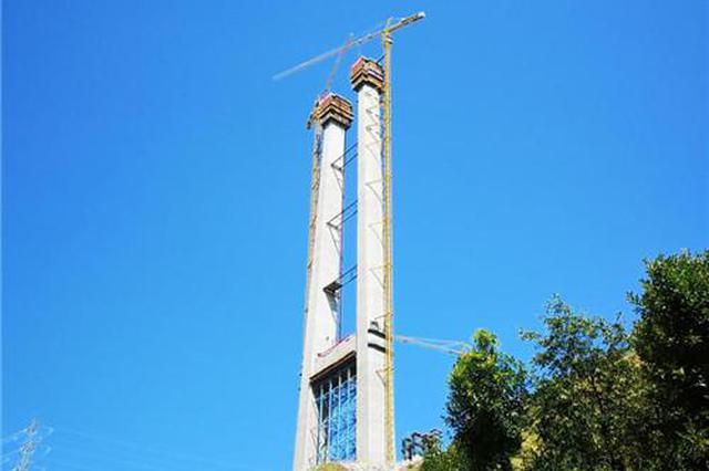 世界峡谷地区最大跨径悬索桥金沙江大桥华坪岸主塔封顶
