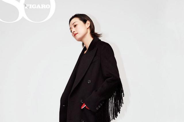 马伊琍杂志写真 飒爽优雅展现百变气质