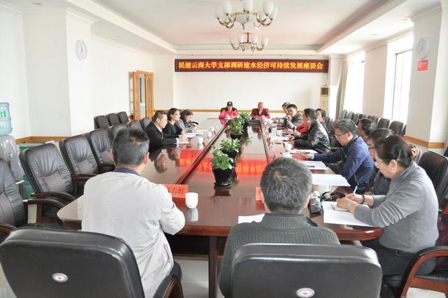 民建云南大学支部建水调研助力当地经济发展