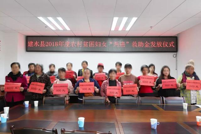 """云南省建水县发放贫困妇女""""两癌""""救助金2.84万元"""