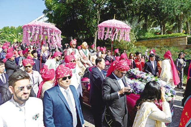 印度富商来昆成婚 大型婚礼近千人参与其中
