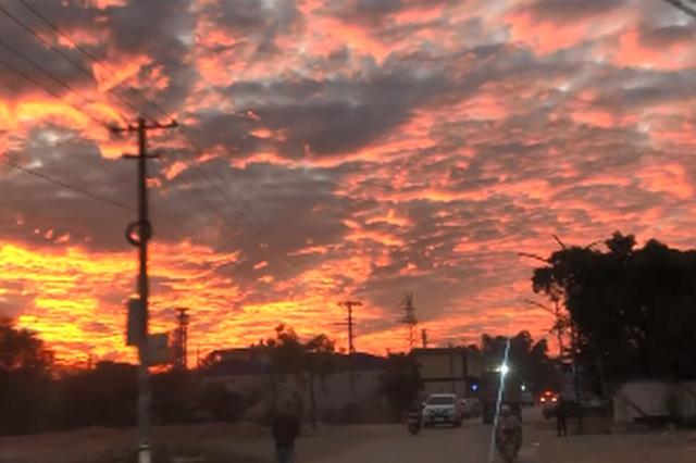 视频丨如梦似幻 西双版纳的晚霞温暖了这个冬天