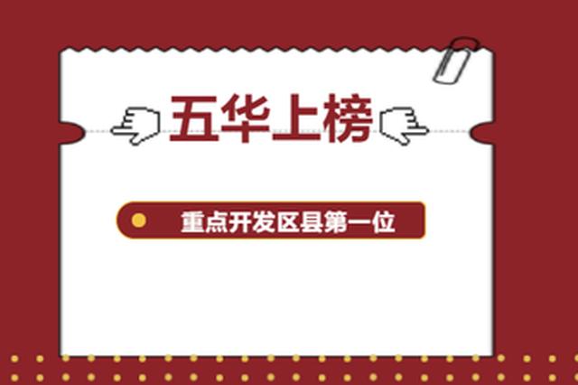 五华区位列全省第一!云南省2019年度县域经济考评结果正在公