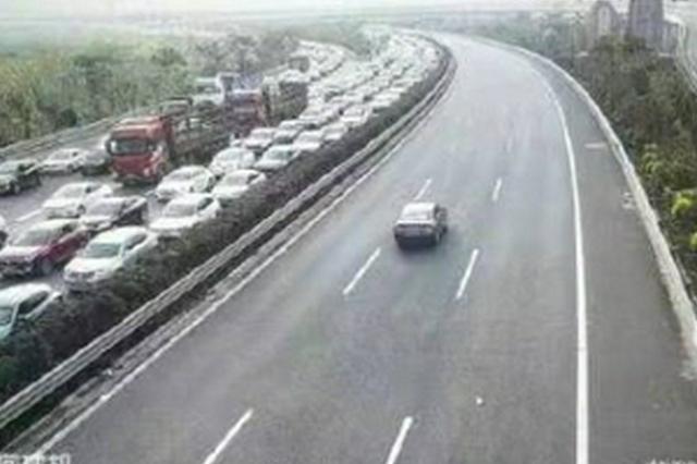 10.1路况 | 昆楚高速一路段发生事故!道路交通管制!滞留车辆