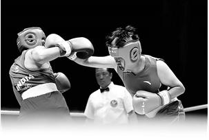 杨婷婷在71公斤级拳击项目中的风采