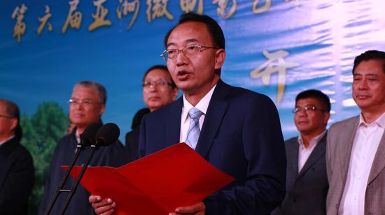中共临沧市委书记杨浩东致辞(张玲 摄)