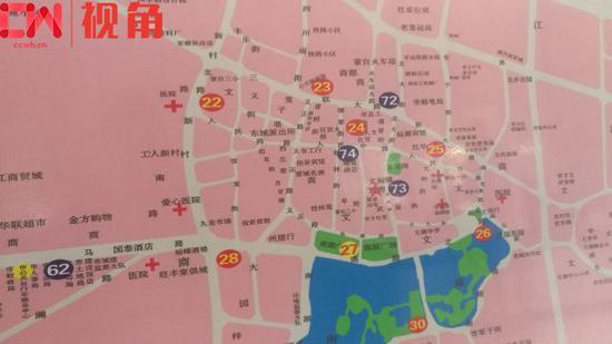 公共单车站点分布图