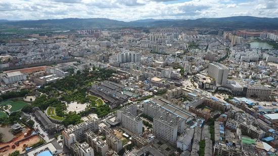 建水城市全景
