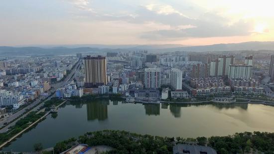 广慈湖航拍