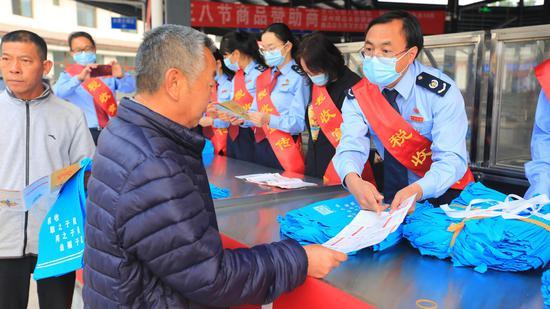 镇沅启动第30个税收宣传月活动