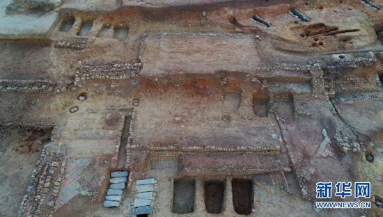 这是一号建筑基址大殿。(云南省文物考古研究所供图)