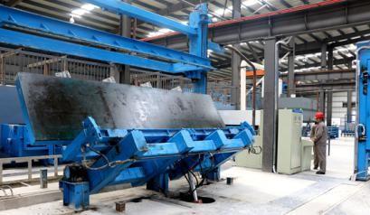 新型墙体板材生产设备调试