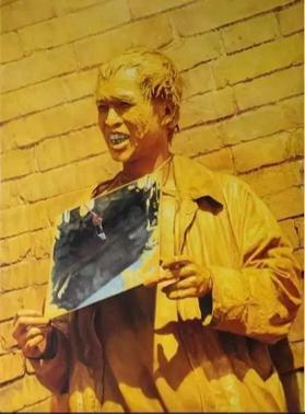 何云昌-金色阳光2000 布面油画 90 x120cm