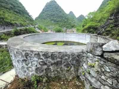 中信银行在广西田林县西华村援建的水柜项目