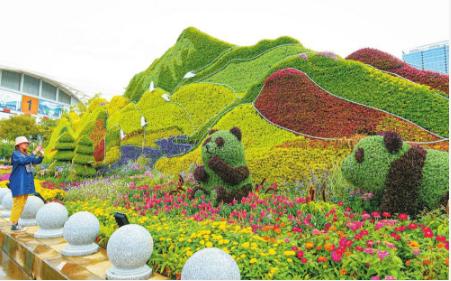 滇池会展中心《山水林田美 神州绘生态》