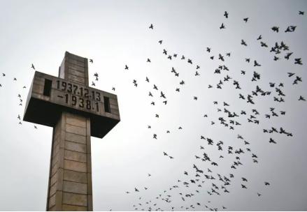 ▲南京大屠杀遇难同胞纪念碑