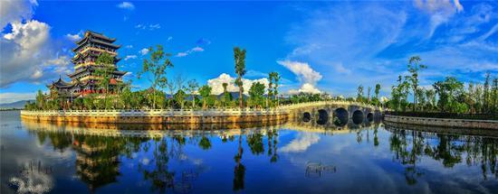 """大美青华——""""三个万亩""""生态廊道建设成就美术摄影作品(保山市文联 供)"""