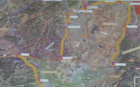绕城高速规划图