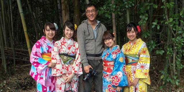 在日本偶遇和服女子