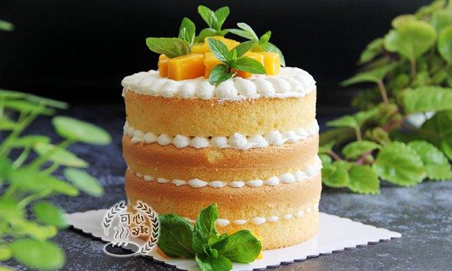 美味下午茶---芒果奶油蛋糕