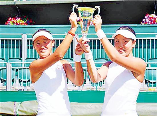 温网青少年女双冠军都有杭州印记 网球也成一方重镇
