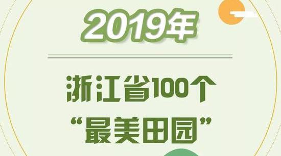 浙江省100个最美田园