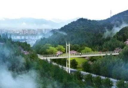 杭州桐庐县城在建空中栈道 预计6月底峻工(图)