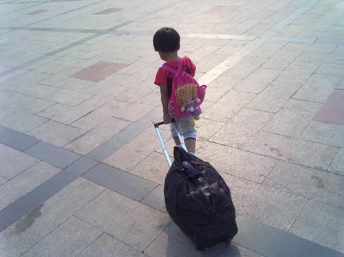 来杭9岁姐姐带着5岁妹妹离家出走 多次哭泣不愿回家