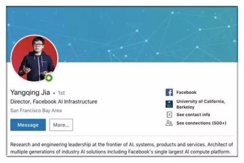 今年2月27日,贾扬清在某社交网站发布了一条新贴,意味深长。